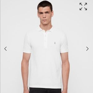 All Saints REFORM SHORT SLEEVE POLO SHIRT